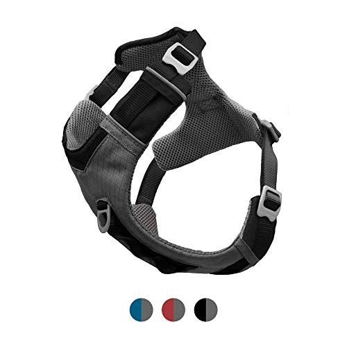 Kurgo Dog Harness for Medium, & Small Active Dogs, Pet Hiking Harness for Running & Walking, Everyday Harnesses for Pets, Reflective, Journey Air (Black, Large)