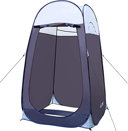 Leader Accessories Pop Up Shower Tent Dressing Changing Tent Pod Toilet Tent 4' x 4' x 78'(H) Big Size (1Grey)