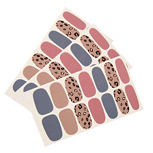 Westeng 3pcs Nail Art Tattoo Sticker Autocollants à ongles Bricolage Décoration d'ongles Autocollants pour ongles (Rose)