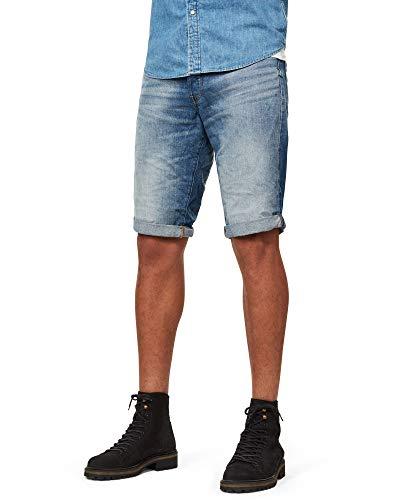 G-STAR RAW Herren 3301 Shorts, Blau (Medium Aged 8973-071), 33W