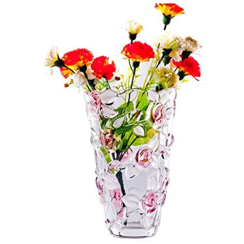 PLL Transparente Rose Glasvase Tisch Dekoration Vase Wohnzimmer Blumenvase Europäischen Stil Ornamente