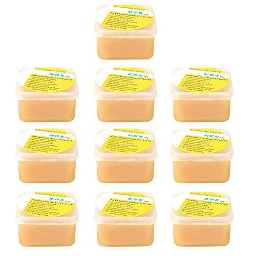 50 g/caja, pasta de fundente de soldadura de colofonia, crema de grasa para soldar, herramienta de reparación de soldadura para teléfono móvil y tarjeta de PC
