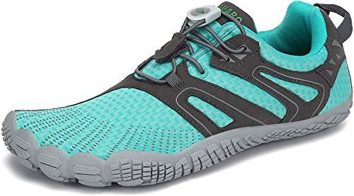 Barefoot Zapatillas Mujer Minimalistas Zapatillas Trekking Respirables Zapatos Five Fingers Calzado Minimalista Azul 37 EU