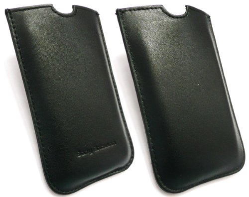 Original Sony Ericsson Slide Schwarz Leder In Case / Cover Bulk Pack Passend Für Sony Ericsson Xperia Neo