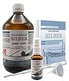 Liquid for Life Argento colloidale 10 ppm - 1000 ml di acqua d'argento - in CONFEZIONE DI PROTEZIONE DELLA RADIAZIONE - con flacone spray da 30 ml e accessori