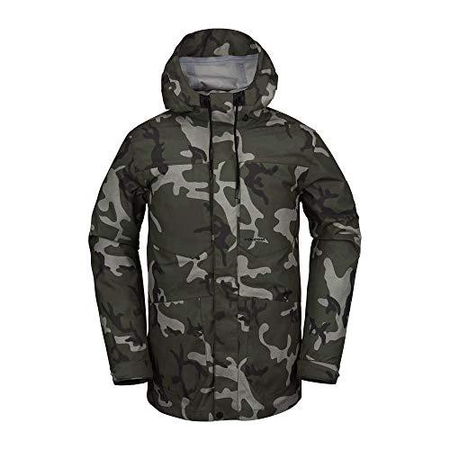 Volcom - Veste De Ski/Snow V-co 3l Rain Multicolor Homme - Homme - Taille m - Gris