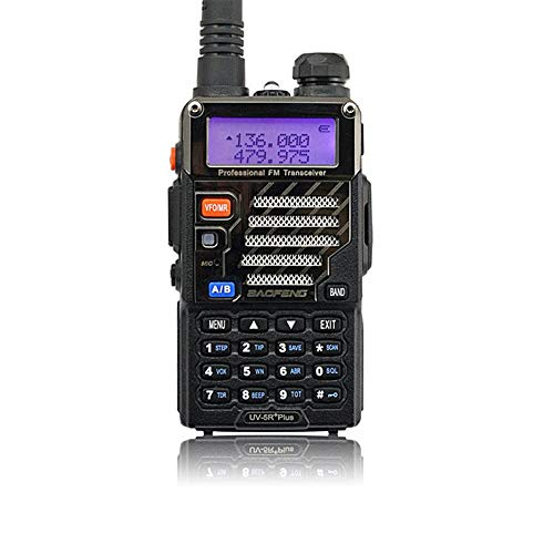 BAOFENG UV-5R+Plus Two Way Radio Handheld Transceiver, Dual Band Walkie Talkie Long Range for Adults, Black