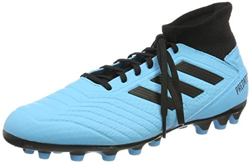 adidas Predator 19.3 AG, Zapatillas de Fútbol Hombre, Azul (Bright Cyan/Core Black/Solar Yellow Bright Cyan/Core Black/Solar Yellow), 44 2/3 EU