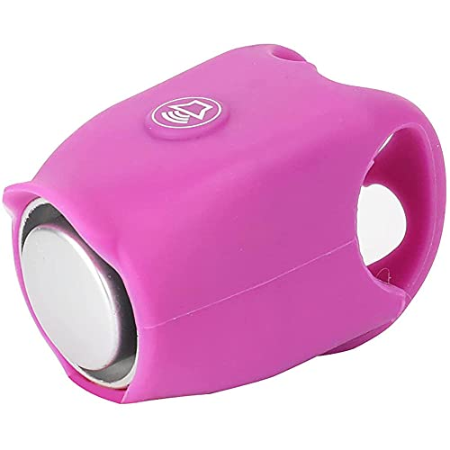 WESD 2021 Super Bike Horn, 120 dB Bicycle Electric Bell,Waterproof Mountain Bike Rode Bikes Warning Horns,Silicone material Shell Ring Bell .-Purple