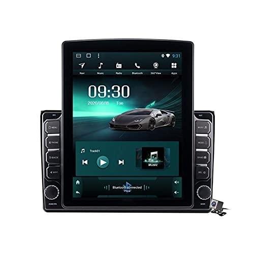 FDGBCF Android 9.1 Car Entertainment Radio Multimedia para Audi A4 2002-2008 con Soporte de Pantalla Vertical de 9.7 Pulgadas DSP FM Am/Navegación GPS/Llamadas Manos Libres BT