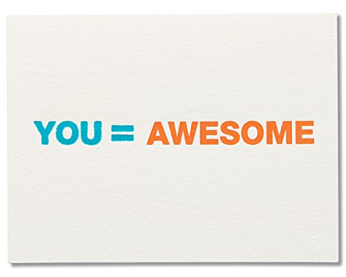 American Greetings Funny Card for Father's Day, Thank You (You Equal Awesome)