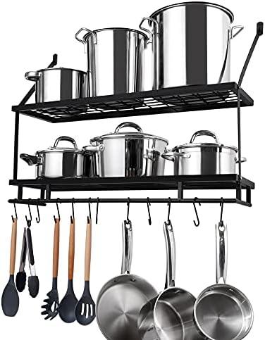 KES 30-Inch Kitchen Pot Rack - Mounted H