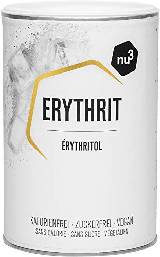 nu3 Erythritol 750g Substitut de Sucre - Édulcorant à base d'ingrédients végétaux (amidon de maïs) sans calories sans impact sur le taux de glycémie - Parfait pour la cuisine et la pâtisserie
