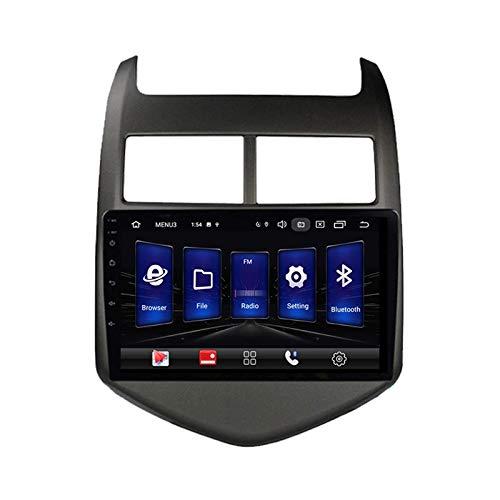 Android 10.0 Autoradio Sat Nav Radio per C-hevrolet Aveo Sonic 2011-2015 Navigazione GPS 9''Head Unit Touchscreen Lettore multimediale MP5 Ricevitore video con 4G WiFi SWC Carplay
