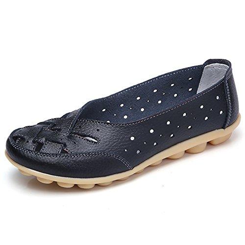 BHYDRY Zapatos de Mujer Damas Planas Sandalias Tobillo de Cuero...