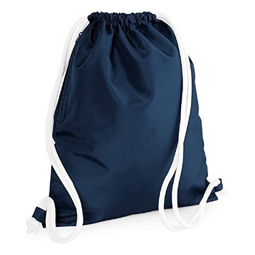 Bag Base BG110FNAV Icon Sac à Dos Unisexe avec Cordon de Serrage Bleu Marine Taille M