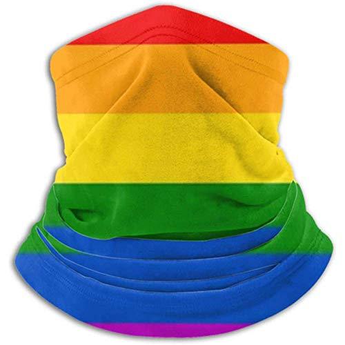 Linger In Calentador de Cuello Rainbow Flag Movement LGBT Flat Icon Bufanda,...