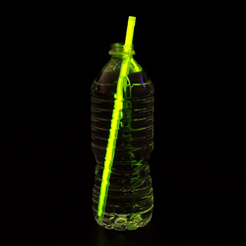 Astro Glow - Glow In The Dark Drinking Straws - 25 Pack - 9 Bright Assorted Colors - Glows up to 8 hours - Guaranteed Satisfaction - Perfect Glow Straws For Any Party