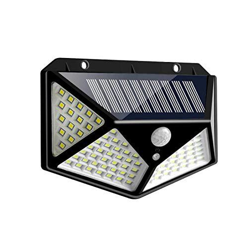 Luz solar 114 Lámpara solar LED PIR Sensor de movimiento Luz de pared IP65 Luces solares impermeables para jardín Luz de emergencia al aire libre