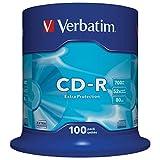 Verbatim 43411 52x 700MB CD-R Vírgenes, 100 Unidades en Spindle