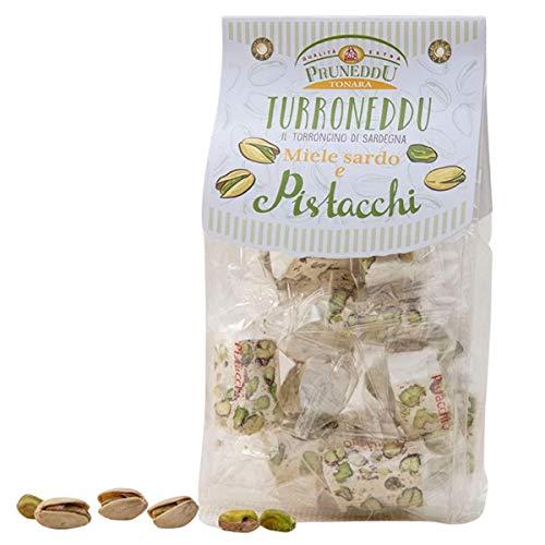 Torroncini mit Pistazien und sardischem Honig | weißer Nougat | Torrone | 150g | Pruneddu Torronificio Artigiano Tonara, Sardinien