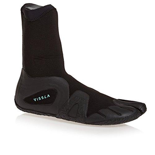 Vissla Seven Seas 3mm 2018 Split Toe Wetsuit Botas UK 12 Negro