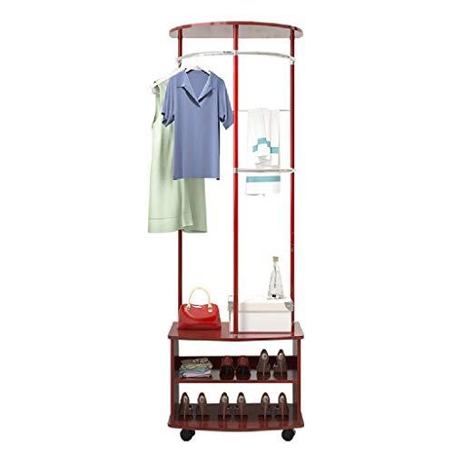Portemanteau Portemanteau Multifonctionnel Portemanteau d'intérieur Portemanteau de Salon Portemanteau Etagère de Rangement Facile à déplacer (Color : Red, Size : 60 * 40 * 172cm)