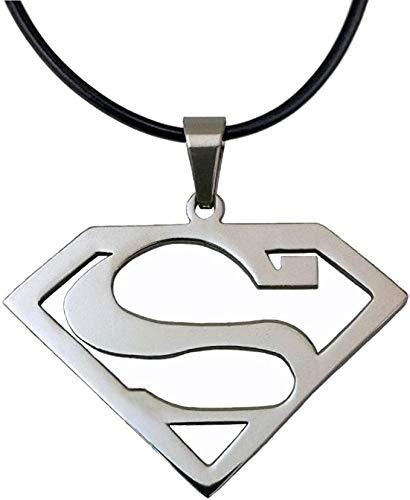 Collar con colgante de acero inoxidable para hombre, regalos para fanáticos de los héroes de la película