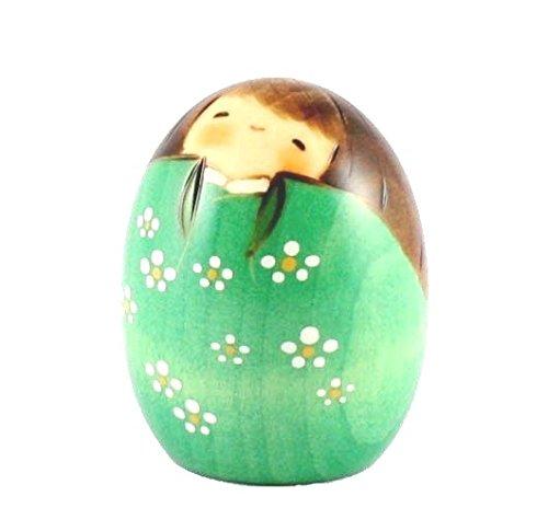 Muñeca Kokeshi - Happy Green