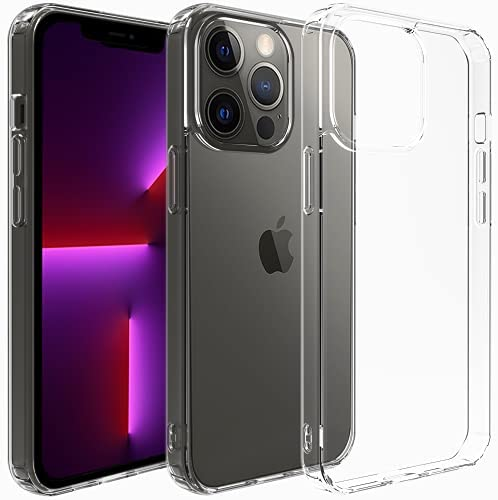 Photo of Restoo Compatible with iPhone 13 Pro Max Case 6.7-Inch,Crystal Clear Case with Hard PC Back [Shock Absorption Corner] Protective Thin Phone Case Cover for iPhone 13 Pro Max 6.7 inch 2021-Clear