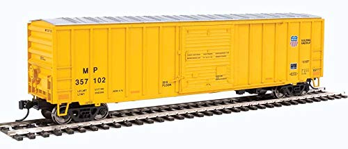 50' ACF Exterior-Post BOXCAR - Ready to Run - Missouri Pacific (TM)/Union Pacific(R) 357102 (Armour Yellow) -  WALTHERS, 2185