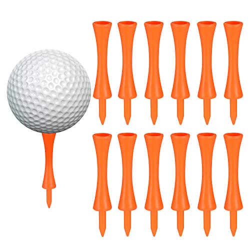100 Pcs 75mm Plástico Tee Golf, Durable Tee Golf de Castillo, Adecuado para Driver Golf, Estera de Práctica de Golf y Bolas Golf Plástico