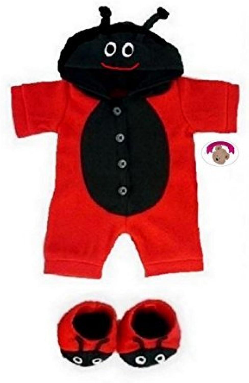 opciones a bajo precio Build Your Bears Wardrobe Teddy Bear Bear Bear Clothes Fleece (rojo negro) by Build your Bears Wardrobe  promocionales de incentivo