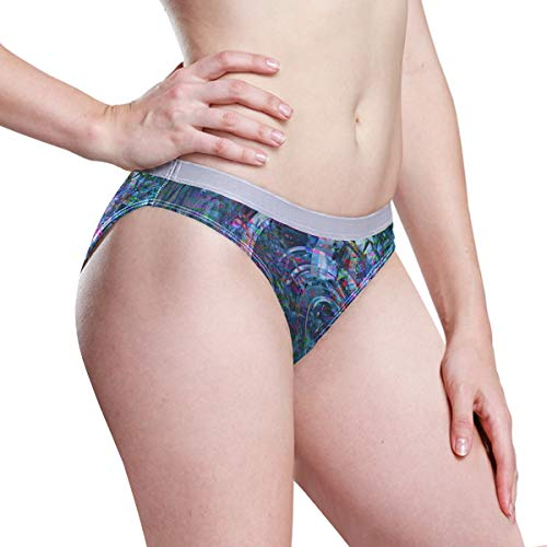 FAJRO Glitch Pixel Damen Unterhose, Spandex Gr. S, 1