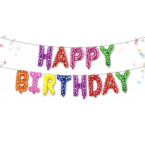Globos Happy Birthday Globos Feliz cumpleaños Letras Alfabeto Fiesta de Cumpleaños Decoración Happy Birthday Bandera Globos Para Fiestas Cumpleaños de Niños y Niñas(j)