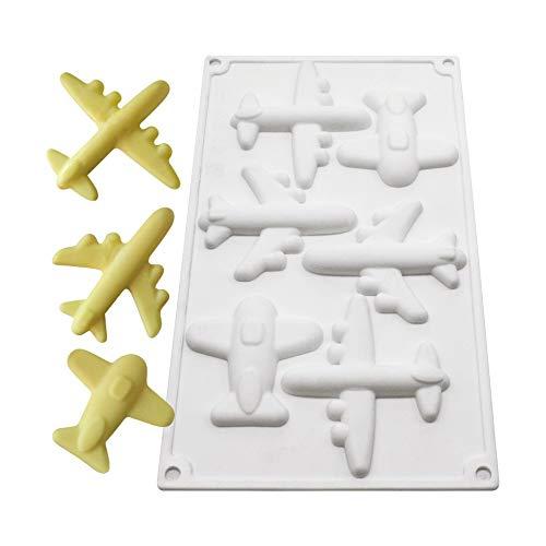 xiaoshenlu Mousse-Kuchenform Silikon backformen für Kuchen - 3D backform DIY Dessert Mould, 6 Löcher Flugzeuge