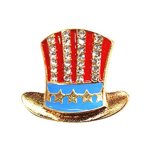 ABOOFAN Broche de la bandera americana de moda de aleación Clips de las mujeres de vestir ropa decorativa BroochGraduación fiesta favores