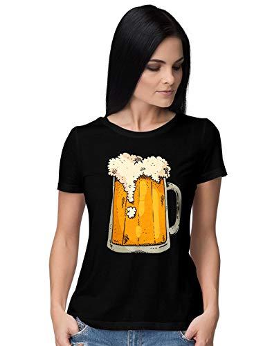 BLAK TEE Mujer Cool Beer Mug Camiseta