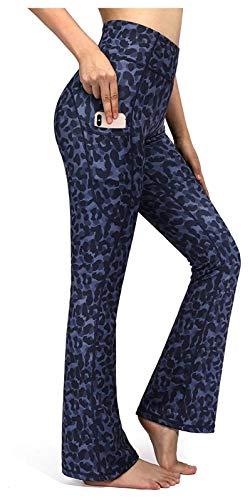 Xhwyf High-Taillen-Yoga-Hosen, Bauchkontrolle Fitnesshose mit Taschen, damen formalen Hosen, Breitbeinhosen eignen sich für Sport, Laufen, (Color : 6, Size : 4XL)