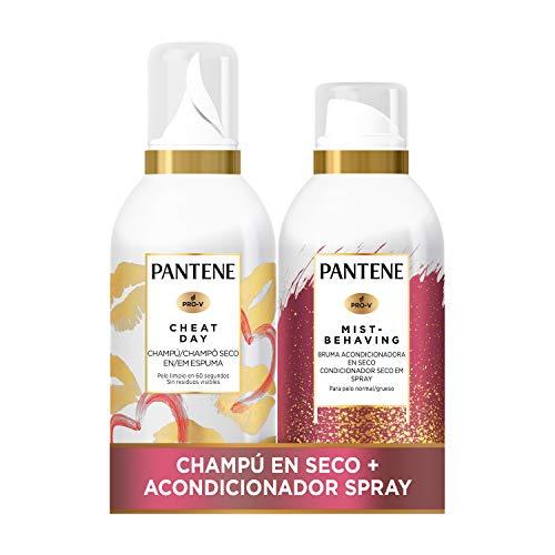 Pantene Pack Champú Seco + Bruma Acondicionadora En Seco, Desenredante, Sin Sulfatos, Pelo Normal Y Grueso