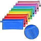 FOCCTS Conjunto de 16 piezas Sobre para formatos de oficina Bolsas de archivo con cremallera Porta documentos con sobre Sobres para cosméticos Oficinas Suministros Accesorios de viaje 8 colores