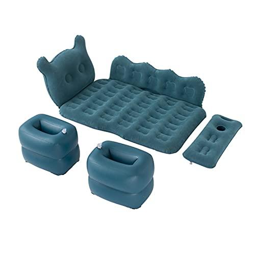 XUEXIU 125 * 75 Cm Cartoon Letto da Viaggio SUV Applicabile Gonfiabile Materasso Letto Letto Gonfiabile (Color : Blue Black)