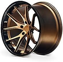 Ferrada Wheels FR2 20x9.0 et15 & 20x10.5 et15 5x115 Matte Bronze / Gloss Black Lip C.B 73.1 Charger Challenger RT SE RWD SXT SRT8 Scat Pack 2006 2007 2008 2009 2010 2011 2012 2013 2014 2015 2016 2017