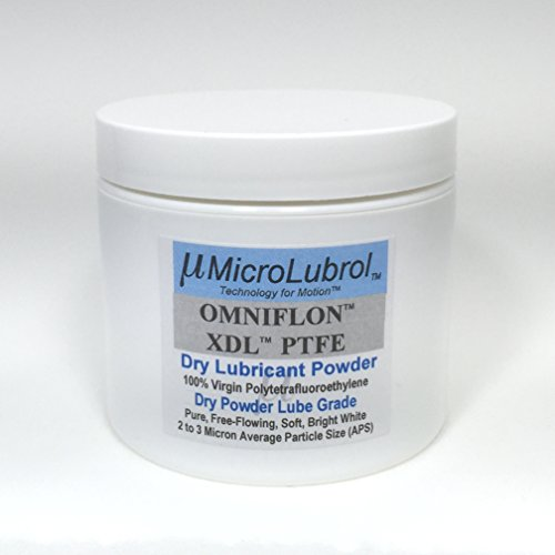 MICROLUBROL OMNIFLON XDL 100% Virgin PTFE Dry Lubricant Powder, 2-3 Micron avg. Particle Size, Free APPLICATOR Brush, 2 oz / 56.7 gm.