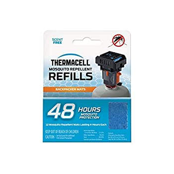 Thermacell Backpacker Mosquito Repellent Mat-Only 48-Hour Refill  Includes 12 Repellent Mats  Compatible with Backpacker Repeller  No Candles or Flames DEET-Free Bug Spray Alternative