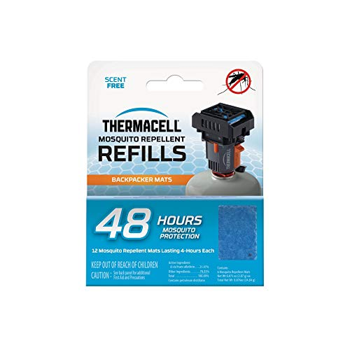 Thermacell Backpacker Mosquito Repellent Mat-Only 48-Hour Refill; Includes 12 Repellent Mats; Compatible with Backpacker Repeller; No Candles or Flames, DEET-Free Bug Spray Alternative
