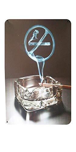 MARQUISE & LOREAN | Placas Decorativas Pared Prohibido Fumar Decoración Carteles Vintage Metálicos MIRA Aquí