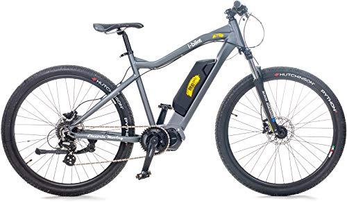 i-Bike MTB Mud PRO 7, Mountain elettrica Unisex Adulto, Grigio, 50 cm