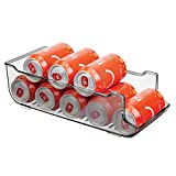mDesign Cajas de almacenaje para frigorífico y armarios de cocina – Contenedores de plástico con capacidad para 9...
