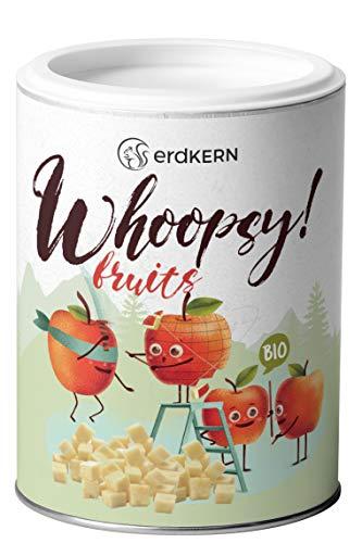 Whoopsy! Fruits - 80g gefriergetrocknete Äpfel, Apfelchips- gewürfelter Apfel - Snack - 100%, ohne Zusätze